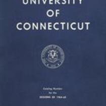 University of Connecticut bulletin, 1964-1965