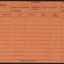 Employee record cards, Partsch - Pestic
