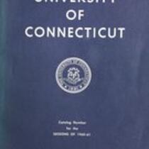 University of Connecticut bulletin, 1960-1961