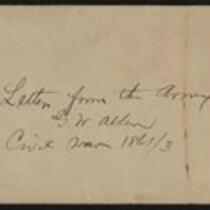 George William Allen Letters