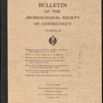 Bulletin of the Archaeological Society of Connecticut, 1948, v. 22