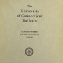 University of Connecticut bulletin, 1952-1953