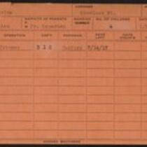 Employee record cards, Oakes - Oquist