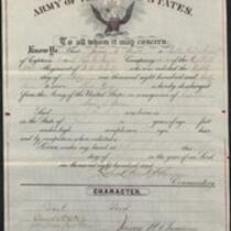 Discharge, 18th Regiment, U.S. Infantry