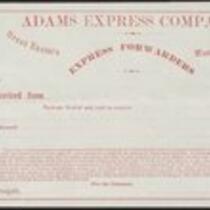 Adams Express Company (blank form)