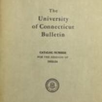 University of Connecticut bulletin, 1953-1954