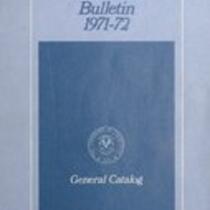 University of Connecticut bulletin, 1971-1972