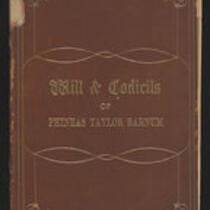 Book: Will & Codicils of Phineas Taylor Barnum