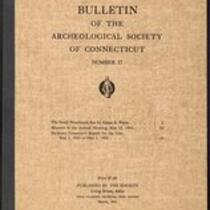 Bulletin of the Archaeological Society of Connecticut, 1945, v. 17
