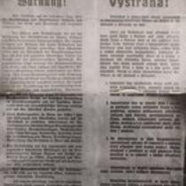 Announcement of occupation policies in Czechoslovakia (in German)