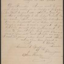 Letter to and poem dedicated to the members of the Louise B. Gaffney Lodge no. 388